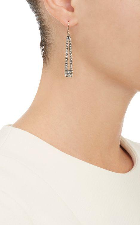 Fabrizio Riva Women's Mixed Diamond & White Gold Teardrop Earrings-Col