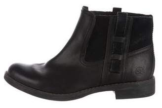Timberland Leather Round-Toe Booties