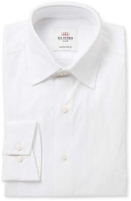 Ben Sherman White Paisley Slim Fit Dress Shirt