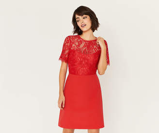 Oasis LACE BODICE SHIFT DRESS LONG