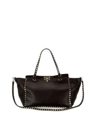 Valentino Rockstud Grained Leather Medium Tote Bag