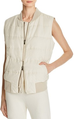 Vince Quilted Puffer Vest $395 thestylecure.com