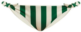 Solid & Striped The Jane Striped Bikini Briefs - Womens - Green Stripe
