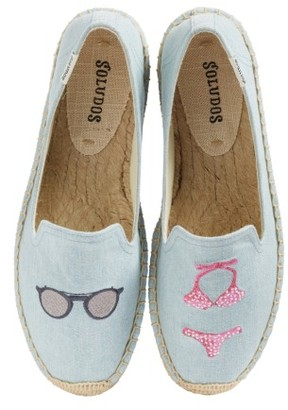 Women's Soludos Embroidered Smoking Slipper Flat $74.95 thestylecure.com
