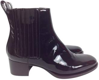 Veronique Branquinho Brown Patent leather Ankle boots