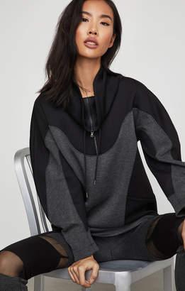 BCBGMAXAZRIA Two-Tone Knit Sweatshirt