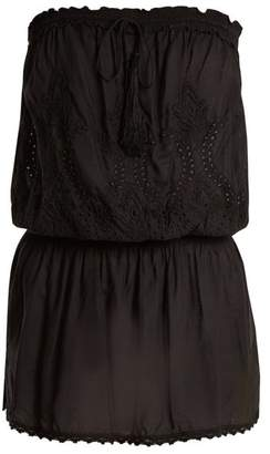 Melissa Odabash Fruley Embroidered Strapless Dress - Womens - Black