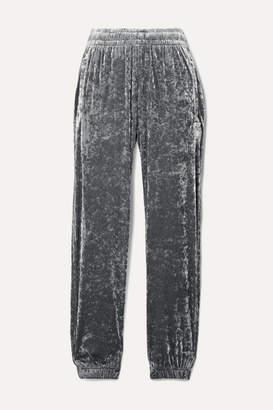 BLOUSE - Sleepy Boy Crushed-velvet Track Pants - Silver
