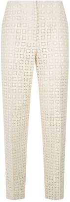 Akris Florin Wool Guipure Trousers