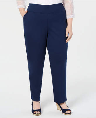 31424fe59cb Alfred Dunner Plus Size Cote D Azur Pull-On Pants