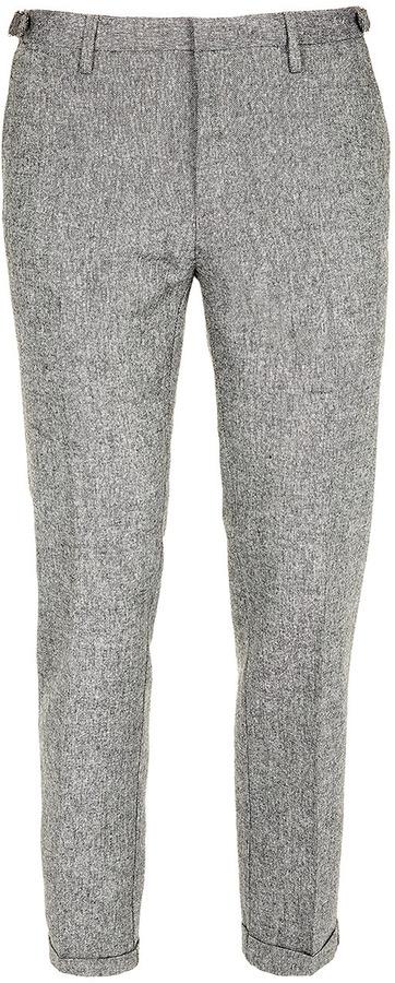 Topman Grey Brushed Skinny Dress Pants