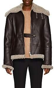 Helmut Lang Women's Shearling Aviator Jacket - Brown