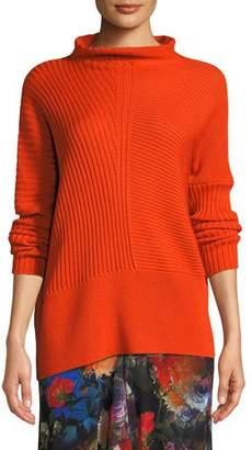 Fuzzi Ribbed Wool Turtleneck Sweater