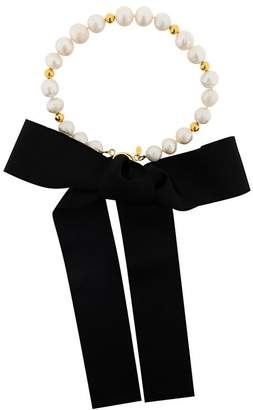 Magda Butrym pearl and gold necklace