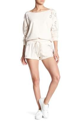Young Fabulous & Broke YFB by Yasmine Laser Cut Drawstring Shorts