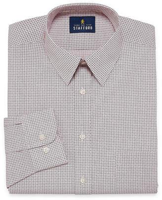 STAFFORD Stafford Travel Performance Super Shirt Long Sleeve Broadcloth Geometric Dress Shirt