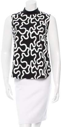 J.W.Anderson Printed Mock Neck Top w/ Tags