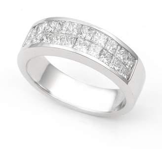 Victoria's Secret Juno Jewelry 18k White Gold Invisible set Diamond Band Ring (/VS, 1 1/5 ct.), 8.5