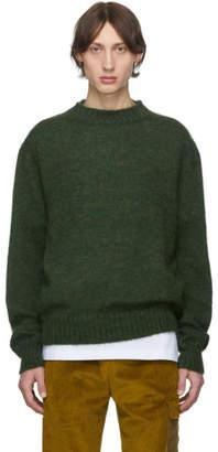Schnaydermans Green Mohair Crewneck Sweater