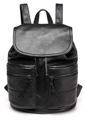 Vicenzo Leather Millie Leather Barrel Backpack