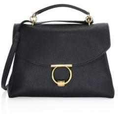 Salvatore Ferragamo Medium Leather Box Messenger Bag