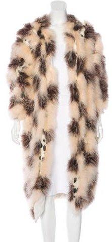 Chloé Chloé Feather Long Coat