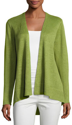 Eileen Fisher Organic Linen High-Low Cardigan $198 thestylecure.com
