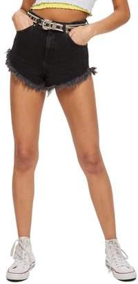 Topshop Kiri Moto Fray Hem Shorts