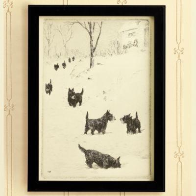 Ballard Designs Scotties in the Snow Print