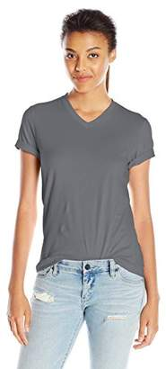 American Apparel Women's Fine Jersey Classic V-Neck Top $24 thestylecure.com