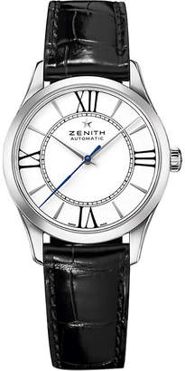 Zenith 03.2310.679/38.C714 Elite stainless steel and leather watch