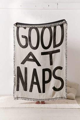 Co Calhoun & Good At Naps Woven Throw Blanket