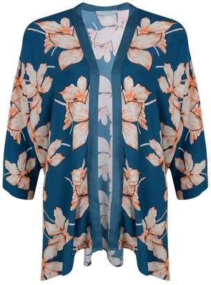 Fever Teal Floral 'Kew' Kimono