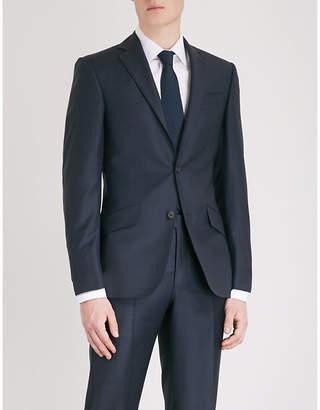 Richard James Sharkskin-weave regular-fit wool jacket
