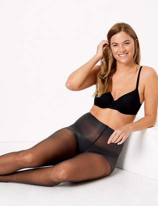 Marks and Spencer 2 Pair Pack 10 Denier Body Smoothing Tights