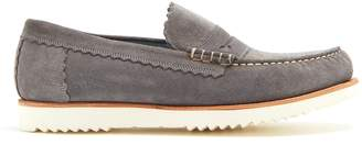 Grenson Ashley raised-sole suede penny loafers