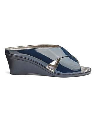 Lotus Leather Wedge Sandals EEE Fit