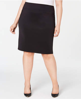 INC International Concepts I.n.c. Plus Size Solid Scuba Pencil Skirt