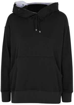 Koral Activewear Spry Black Jersey Hooded Sweatshirt