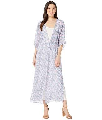 Vince Camuto Petite Charming Floral Maxi Chiffon Duster
