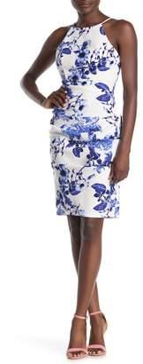Jump Floral Print Halter Sheath Dress
