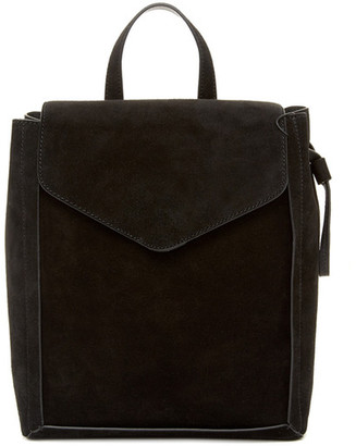 LOEFFLER RANDALL Charming Suede and Leather Backpack $395 thestylecure.com