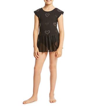 Jacques Moret Short Sleeve Hearts Dance Dress - Preschool