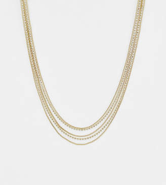 Liars & Lovers gold chain & rhinestone layering necklace