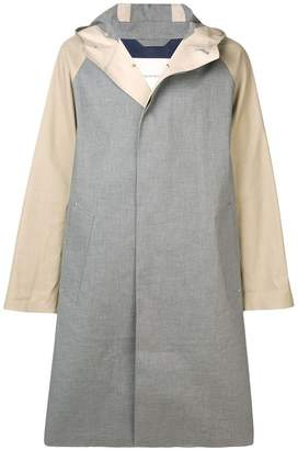 MACKINTOSH Grey & Fawn Bonded Cotton Oversized Hooded Coat GR-122/CB