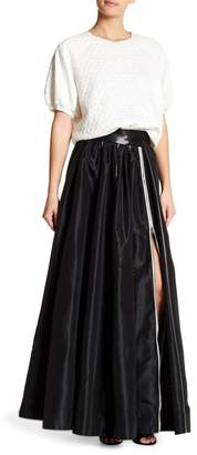 TOV Piped Maxi Skirt