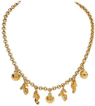 One Kings Lane Vintage Ferragamo 7-Charm Gold Necklace