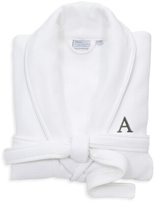 Linum Monogrammed Waffle Small/Medium Terry Bathrobe