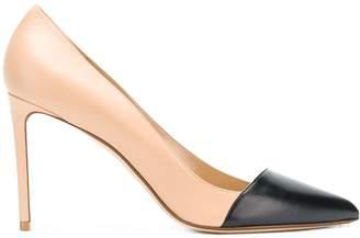 Francesco Russo contrast toe pumps