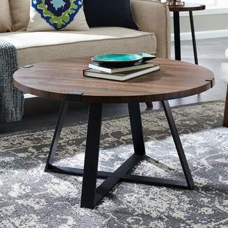 Williston Forge Bowden Metal Wrap Coffee Table